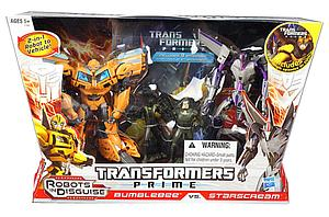 Transformers Prime Deluxe Class 2-Pack: Starscream vs. Bumblebee (Includes DVD)