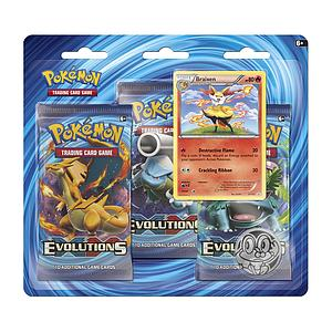 Pokemon Trading Card Game: XY12 Evolutions 3-Pack Blister (Braixen)