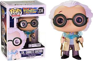 Pop! Movies Back to the Future Vinyl Dr. Emmett Brown (1955 with Jumper Cables) #236 Lootcrate Exclusive