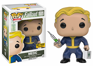 Pop! Games Fallout Vinyl Figure Medic (Vault Boy) #101 Hot Topic Exclusive
