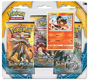 Pokemon Trading Card Game: Sun & Moon 3-Pack Blisters - Litten