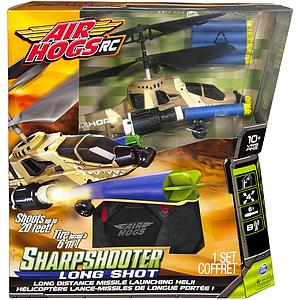 Air Hogs Sharpshooter Long Shot RC Helicopter with Bonus Darts