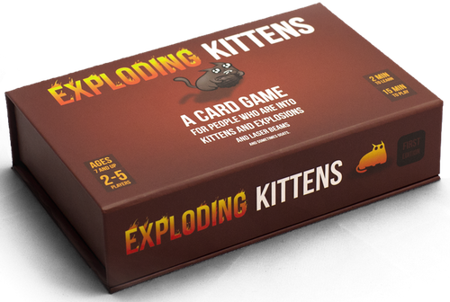 Exploding Kittens 1st Edition Meowing Box