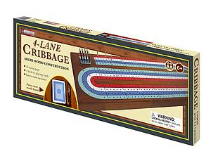 Cribbage: 4-Track Wood with Metal Pegs