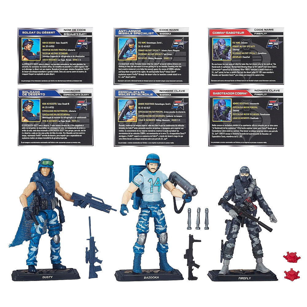 G.I. Joe 50th Anniversary: Sneak Attack 3-Pack Set