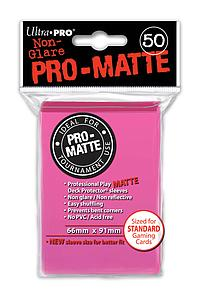 Non-Glare Pro-Matte: Bright Pink Standard Card Sleeves (66mm x 91mm)