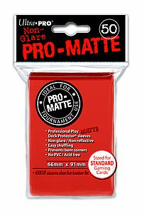 Card Sleeves 50-pack Non-Glare Pro-Matte Standard Size: Peach