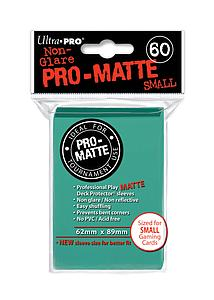 Non-Glare Pro-Matte: Aqua Small Card Sleeves (62mm x 89mm)