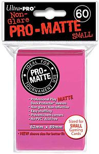 Non-Glare Pro-Matte: Bright Pink Small Card Sleeves (62mm x 89mm)