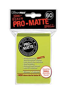 Card Sleeves 60-pack Non-Glare Pro-Matte Small Size: Bright Yellow