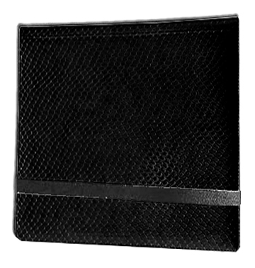 12 Pocket Binder: Black (Dragon Textured)