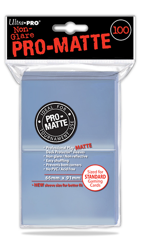 Card Sleeves 100-pack Non-Glare Pro-Matte Standard Size: Clear
