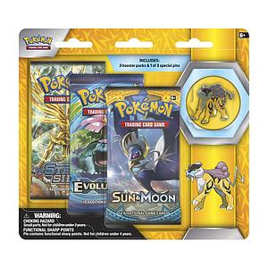 Pokemon Trading Card Game: Raikou 3-Pack Blister with Pin