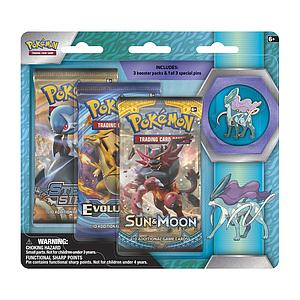 Pokemon Trading Card Game: Suicune 3-Pack Blister with Pin
