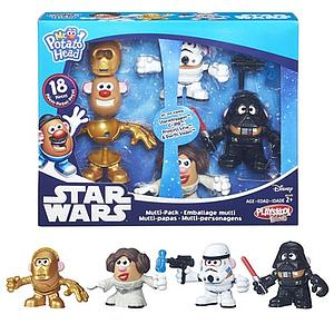 Playskool Friends Mr. Potato Head Star Wars Stormtrooper, C-3PO, Princess Leia, & Darth Vader
