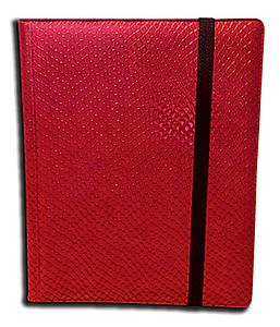 Side Loading Binder: Red (Dragon Hide)