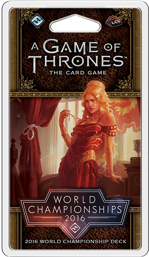 A Game of Thrones: The Card Game - 2016 World Champion Deck