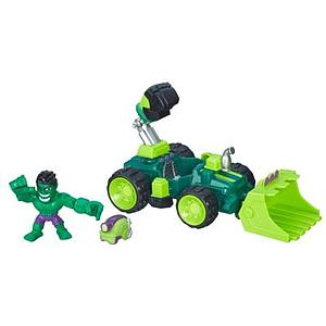 Marvel Super Hero Mashers Micro Hulk Smash-Dozer Vehicle & Figure