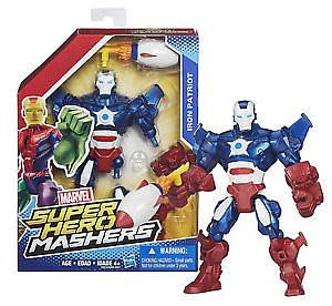 "Marvel Super Hero Mashers 6"" Action Figure Iron Patriot"