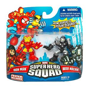 "Marvel Super Hero Squad 2"" 2-Pack: Iron Man & War Machine"