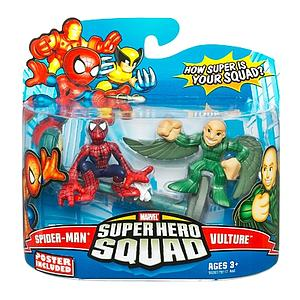"Marvel Super Hero Squad 2"" 2-Pack: Spider-Man & Vulture"