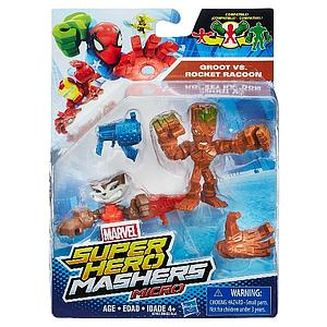 Marvel Super Hero Mashers Micro 2-Pack Action Figure - Groot vs Rocket Racoon