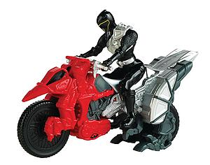 Power Rangers Dino Super Charge Dino Cycle & Black Ranger