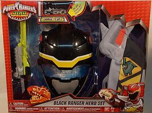 Power Rangers Dino Super Charge Black Ranger Hero Set Roleplay Toy