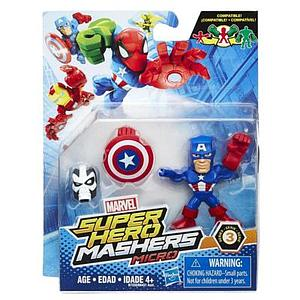 Marvel Super Hero Mashers Micro Series 3 Captain America Figure