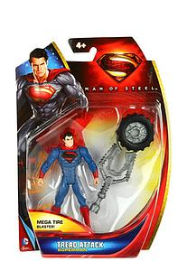"Mattel Man of Steel Movie Basic 4"": Tread Attack Superman"