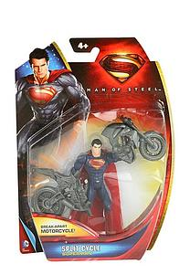 "Mattel Man of Steel Movie Basic 4"": Split Cycle Superman"