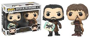 Pop! Television Game of Thrones Vinyl Figure 2-Pack Battle of the Bastards (Jon Snow & Ramsay Bolton)