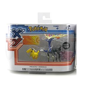 TOMY Pokemon X & Y 2-Pack Action Figures Pikachu & Xerneas
