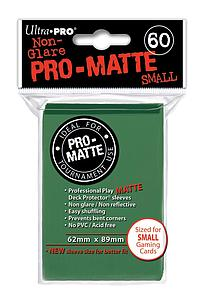 Non-Glare Pro-Matte: Green Small Card Sleeves (62mm x 89mm)