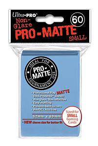 Card Sleeves 60-pack Non-Glare Pro-Matte Small Size: Light Blue