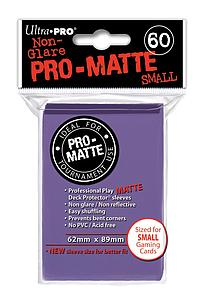 Card Sleeves 60-pack Non-Glare Pro-Matte Small Size: Purple