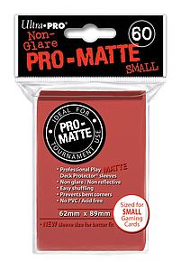 Card Sleeves 60-pack Non-Glare Pro-Matte Small Size: Red
