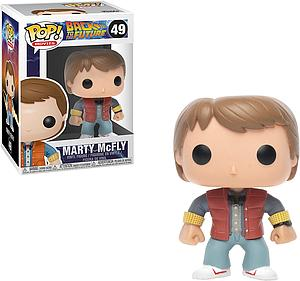Pop! Movies Back to the Future Vinyl Figure Marty McFly #49