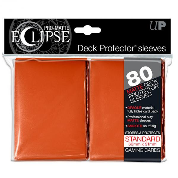 Card Sleeves 80-pack Pro-Matte Standard Size: Eclipse Opaque Orange