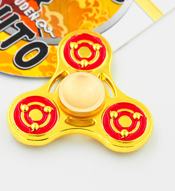 Fidget Spinner (Gold) Metal Naruto