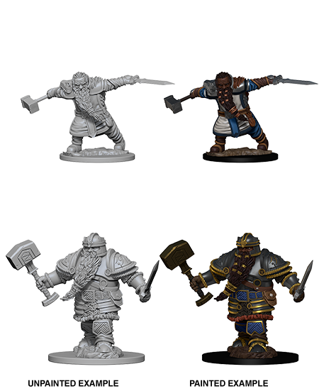 Dungeons & Dragons Roleplaying Game Unpainted Miniatures: Dwarf Fighter