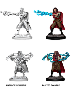Dungeons & Dragons Roleplaying Game Unpainted Miniatures: Human Sorcerer