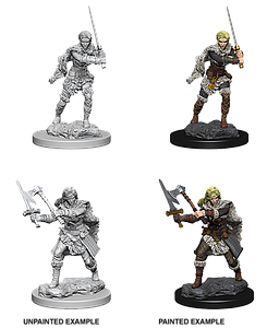 Dungeons & Dragons Roleplaying Game Unpainted Miniatures: Human Barbarian