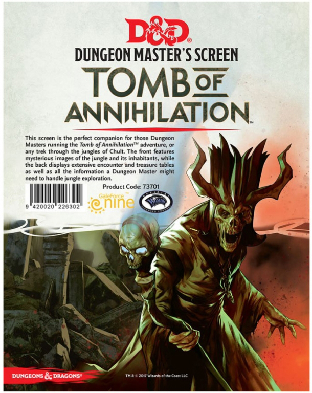 Dungeons & Dragons: Dungeon Master's Screen - Tomb of Annihilation