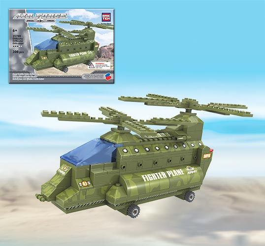 Brictek Airforce Set: Double Rotor Helicopter