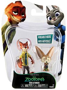 Tomy Disney Zootopia Nick and Finnick Mini Figure 2-Pack