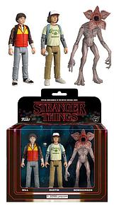 Stranger Things Action Figure 3-Pack (Demogorgon, Will, Dustin) Set #2
