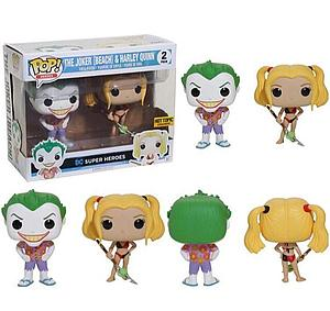Pop! Heroes Suicide Squad Vinyl Figure 2-Pack The Joker (Beach) and Harley Quinn Hot Topic Exclusive