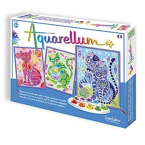 Aquarellum Large Magic Canvas: Cats