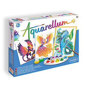 Aquarellum Large Magic Canvas: Mythical Animals
